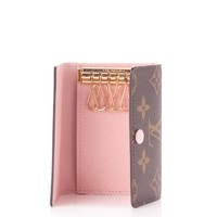 LOUIS VUITTON Monogram Multicles 6 Key Holder Rose Ballerine