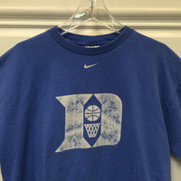 Vintage Nike Duke Basketball / Duke Blue Devils / T-Shirt / Made in USA / Blue / Large