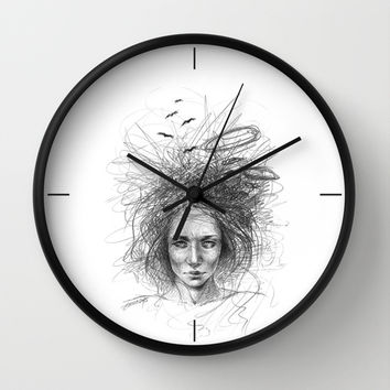 Nothing makes sense Wall Clock by EDrawings38