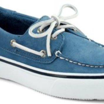 Sperry Top-Sider Bahama Washable 2-Eye Boat Shoe BlueWashableNubuck, Size 7M  Men's Shoes