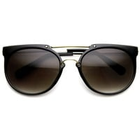 Indie Dapper Hipster Flat Top Vintage Aviator Sunglasses 8945
