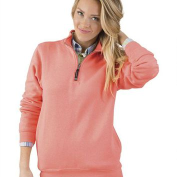 Women's Crosswind Quarter Zip Sweatshirt by Charles River