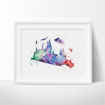Dementor 2, Harry Potter Watercolor Art Print