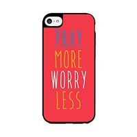 Pray More Worry Less - iPhone 6 Black Case (C) Andre Gift Shop
