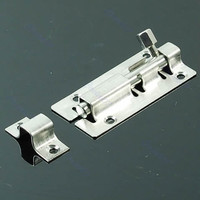 A96 Stainless Steel Door Latch Barrel Bolt Latch Hasp Stapler Gate Lock Safety #Xy#