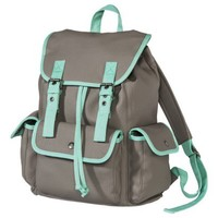 Mossimo Supply Co. Solid Backpack - Gray and Turquoise