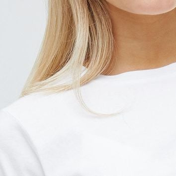 ASOS DESIGN crop t-shirt with shirred hem and cuffs at asos.com