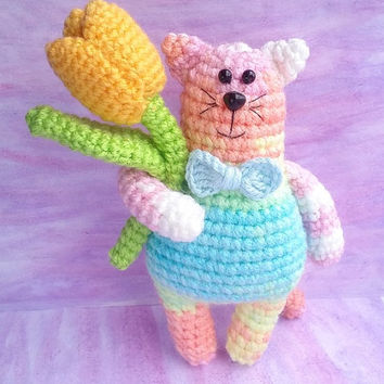 Cat. Cat Pattern. PDF file amigurumi crochet pattern. DIY handmade toy.