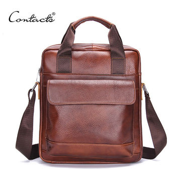 Men Leather Casual Messenger Bags [9026419971]