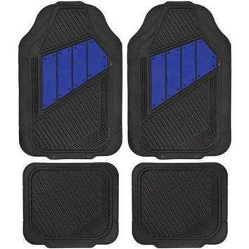 Motor Trend FlexTough 2 Tone Rubber Car Floor Mats for Auto, Heavy Duty All Season