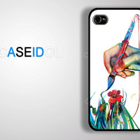 Paint Color Drawing Case iPhone 4 Case iPhone 4s Case iPhone 5/5s/5c Case S3/S4 idea case CaseiPhone iPhonecase