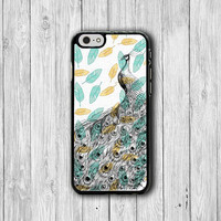 Peacock Feather iPhone 6/6S Case,Beautiful Bird iPhone 6 Plus, iPhone 5/5S, iPhone 5C Case, iPhone 4/4S Case Teen Electronics Vintage Gift