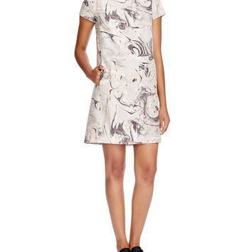 Theory Jasneah Geode Print Silk Dress