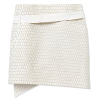 Salvatore Ferragamo Embroidered Wrap Skirt - White Mini Skirt - ShopBAZAAR