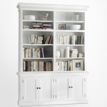 Halifax Double - Bay hutch Unit White semi-gloss