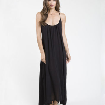 9seed Newport - Black Maxi Dress w/ Multi Ties