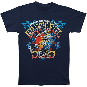 Grateful Dead Men's  Strutting Skelly T-shirt Navy