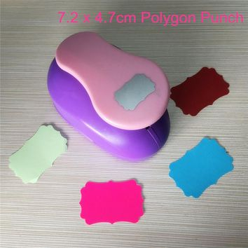 "Free Ship 3""(7.2cm) Polygon shaped EVA foam paper hole punch for greeting card handmade Geometry craft punch furador scrapbook"