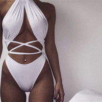 Multi way wear Jumpsuit 2016 Sexy Elastic Waist Overalls Bandage Backless Bodysuit drop shipping