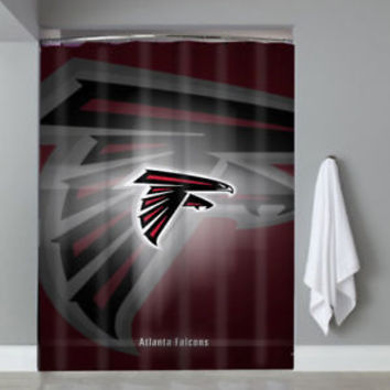 Top Luxury Atlanta Falcons Logo NFL Football Team Shower Curtain Limited Edition