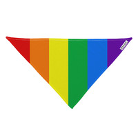 "Rainbow Vertical Gay Pride Flag Dog Bandana 26"" All Over Print by"