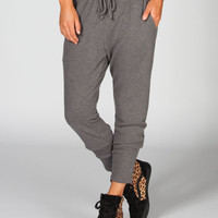 Full Tilt Womens Drawstring Jogging Pants Heather Grey  In Sizes