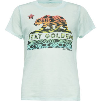 Billabong Cali Bear Girls Tee Mint  In Sizes