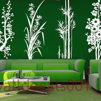 Vinyl Wall Decal Sticker Art four by walldecals001 on Etsy