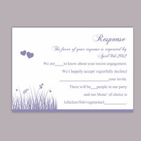 DIY Wedding RSVP Template Editable Word File Download Rsvp Template Printable RSVP Cards Lavender Rsvp Card Template Purple Rsvp Card