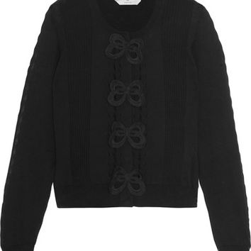 Fendi - Appliquéd cotton cardigan