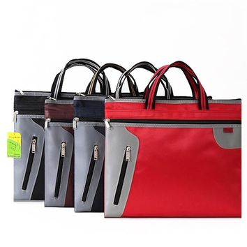 37X30CM Commercial Business Document Bag A4 Tote file folder Filing Bag Meeting Bag Side Zipper Pocket office bags for documents