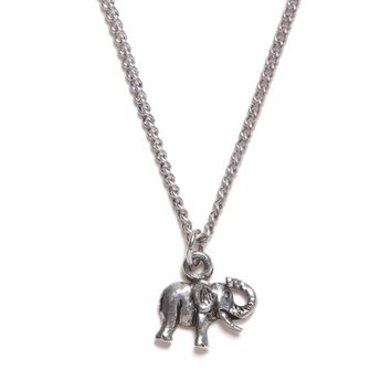 With Love From CA Envelope Elephant Necklace - Womens Jewelry - Silver - One