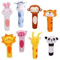 5 Styles Baby Rattle Toy Animal Design  Baby kids Plush Toys Educational Baby Rattle Toys for Newborn  Kids High Quality