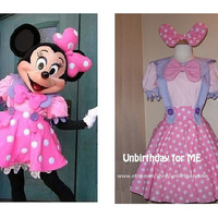 MADE to order Minnie Mouse adult costume skirt salopette Small to Plus size, pink and lavender overall skirt
