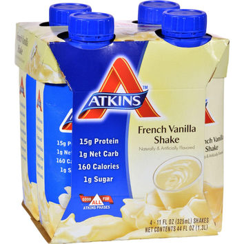 Atkins Advantage Rtd Shake French Vanilla - 11 Fl Oz Each - Pack Of 4