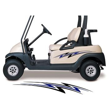 Two Color Golf Cart Decals Accessories Go Kart Stickers Side by Side Graphics GCA1203