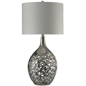 "Stockwood Open Work 39"" Table Lamp"