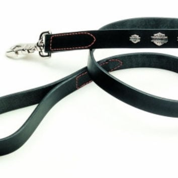 "Harley-Davidson Black Leather Dog Lead 5/8"" x 4'"