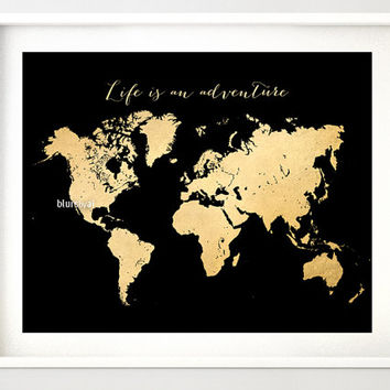 Shop gold foil world maps on wanelo printable world map vintage faux gold foil map life is an adv gumiabroncs Gallery