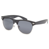 Blue Crown Woodie Clubmaster Sunglasses Black One Size For Men 23828110001