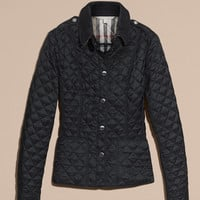 Diamond Quilted Jacket Ink | Burberry