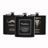 1 Piece Personalized Engraved 6 oz Hip Flask