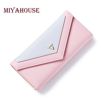 Miyahouse Hot Sale Envelope Women Long Wallet Fashion Female Three Fold Card Holder Wallets Geometric Purse For Coin Purses
