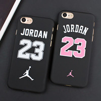 7&7plus Case Jordan 23 Phone Case For iphone 7 6 6s 5 5s SE Cover Matte PC Hard Cover Back Case For iphone 7 Plus 6 6s Plus Capa
