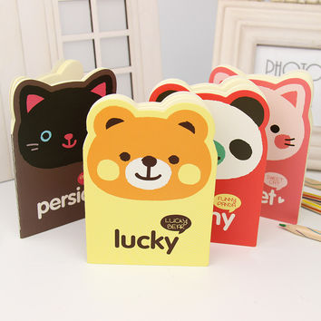 1 Pcs Cute Notebook Cartoon Animal Diary Planner Notepad for Kids Gift Stationery Office School Supplies