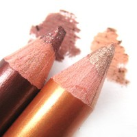 Bronze and Brown - Double Color Glitter Eye Shadow Duo Pencil from nailartsupplies