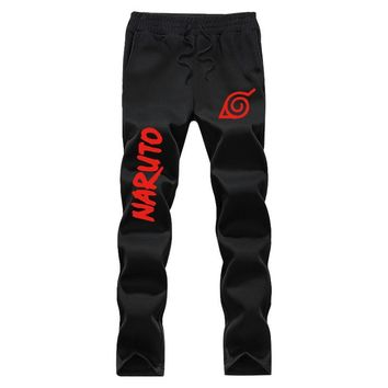 Glow Naruto 2017 Autumn And Winter fashion Printing elastic waist new arrival mens fleece casual pants joggers sweatpants