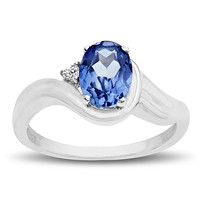 Sapphire Ring with Diamonds - 69507v6lcsg0