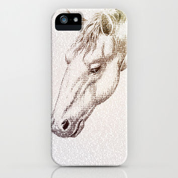 The Intellectual Horse iPhone & iPod Case by Paula Belle Flores