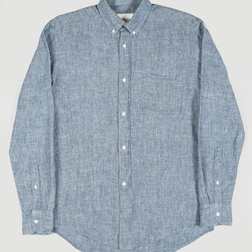 Our Legacy Everyman 1940's Shirt Blue Chambray